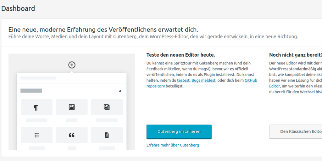 WordPress 4.9.8 . Gutenberg callout